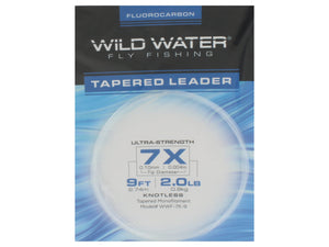 Fluorocarbon Tapered Leader 7X | Wild Water Fly Fishing