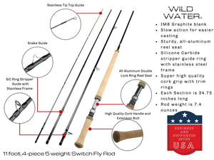 Wild Water Fly Fishing AX5-110-4 Switch Rod