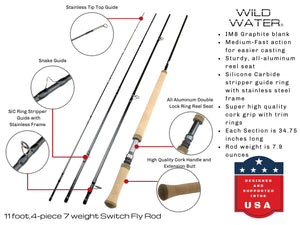 7 Weight Switch Rod Kit for Saltwater | Wild Water Fly Fishing