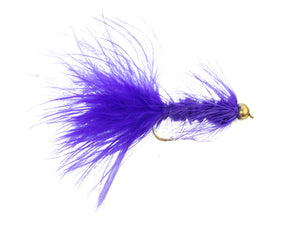 Purple Bead Head Wooly Bugger Fly | Wild Water Fly Fishing