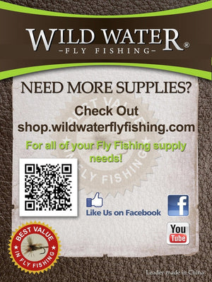 9' Tapered Monofilament Leader 6X, 6 Pack - Wild Water Fly Fishing