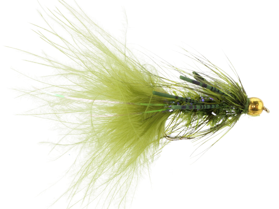 Green Bead Head Wooly Bugger Fly | Wild Water Fly Fishing