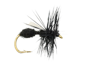 Wild Water Fly Fishing Winged Black Ant, Size 12, Qty. 6