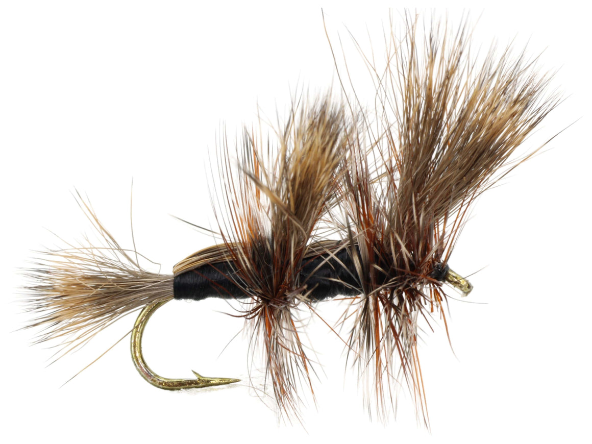 Black Double Humpy Dry Fly Pattern | Wild Water Fly Fishing