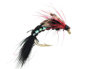 Wild Water Fly Fishing Woven Black Caddis, Size 10, Qty. 6