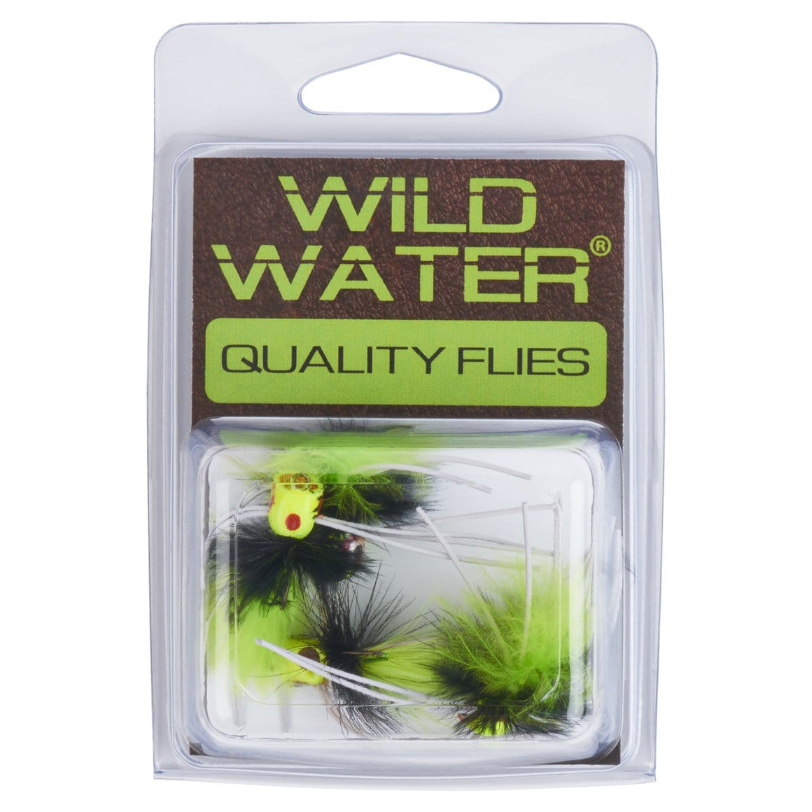 Wild Water Black and Chartreuse Little Fatty by Pultz Poppers, Size 10, Qty 4