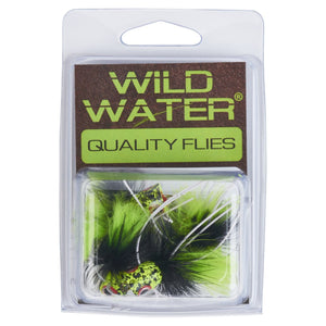 Wild Water Black and Chartreuse Little Fatty by Pultz Poppers, Size 4, Qty. 4 - Wild Water Fly Fishing