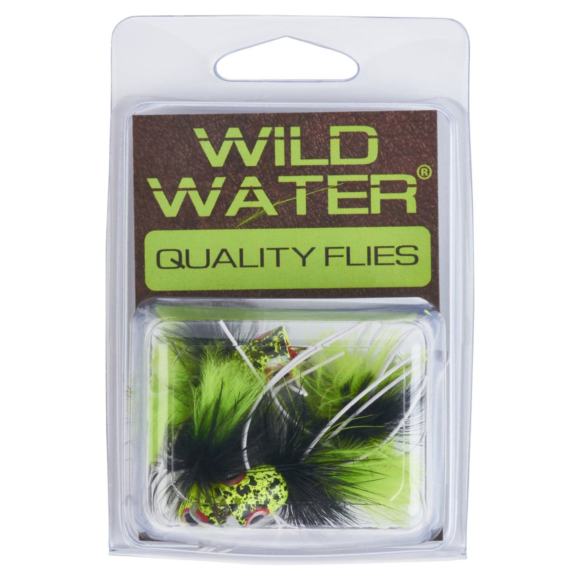 Wild Water Black and Chartreuse Little Fatty by Pultz Poppers, Size 6, Qty. 4