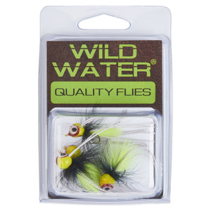 Wild Water Chartreuse and Black Rollie Pollie Popper by Pultz Poppers, Size 10, Qty. 4 - Wild Water Fly Fishing