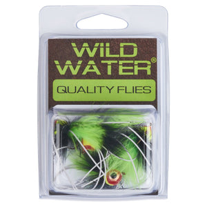 Wild Water Chartreuse and Black Rollie Pollie Popper by Pultz Poppers, Size 8, Qty. 4 - Wild Water Fly Fishing