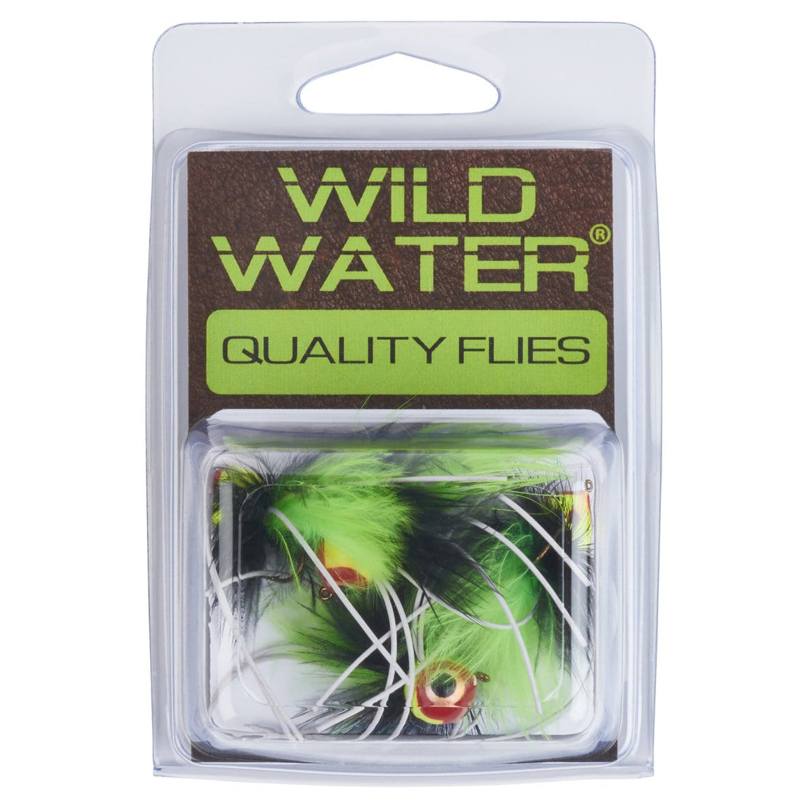 Wild Water Chartreuse and Black Rollie Pollie Popper by Pultz Poppers, Size 8, Qty. 4