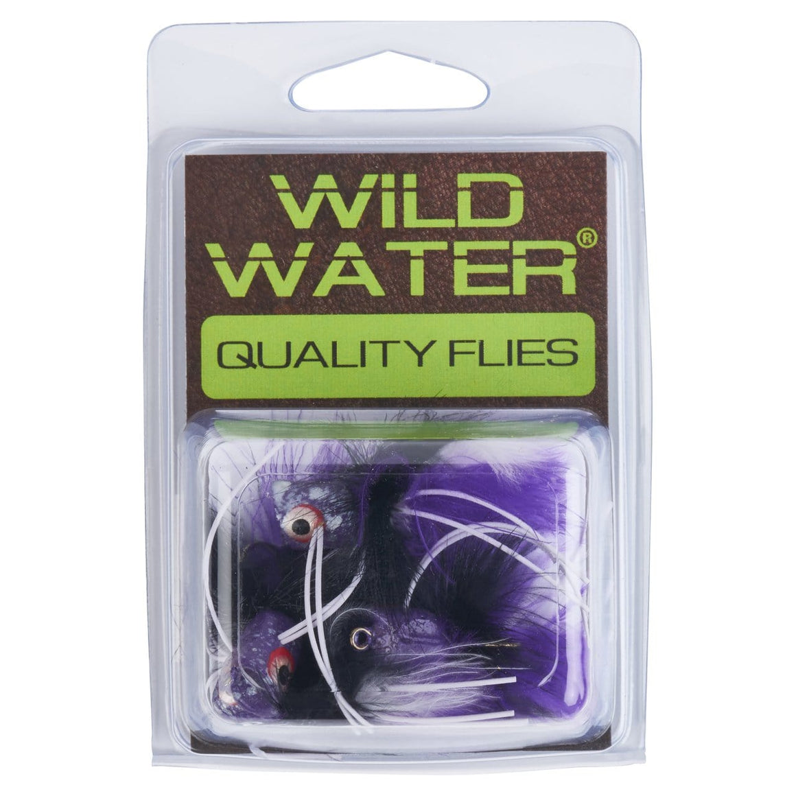 Wild Water Purple and Black Little Fatty by Pultz Poppers, Size 6, Qty. 4 - Wild Water Fly Fishing