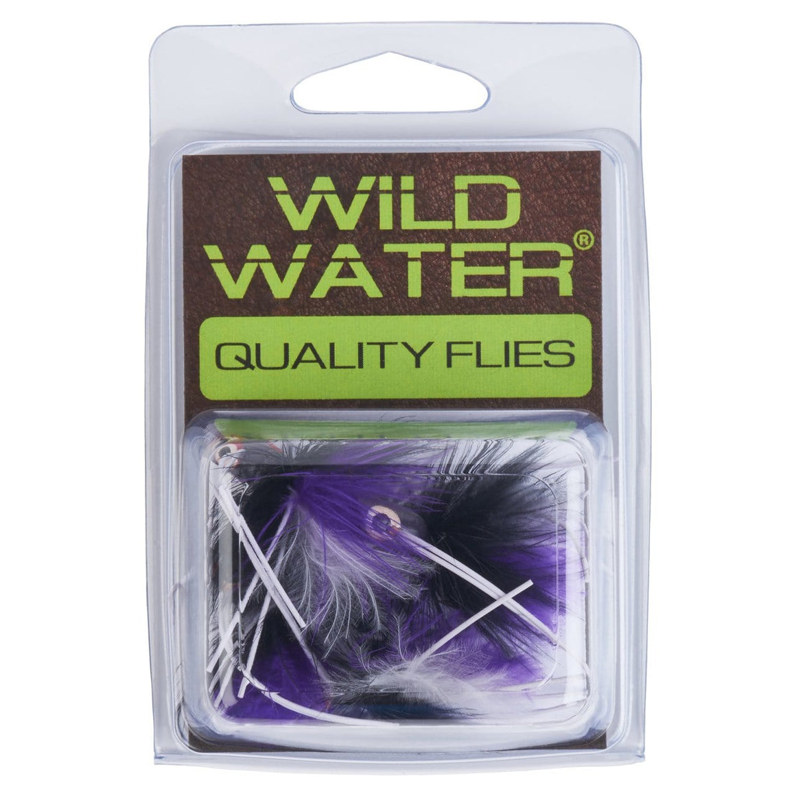 Wild Water Purple and Black Little Fatty by Pultz Poppers, Size 8, Qty. 4 - Wild Water Fly Fishing
