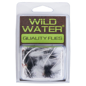 Wild Water Black and White Rollie Pollie Popper by Pultz Poppers, Size 10, Qty. 4 - Wild Water Fly Fishing