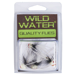 Wild Water Black and White Rollie Pollie Popper by Pultz Poppers, Size 8, Qty. 4 - Wild Water Fly Fishing