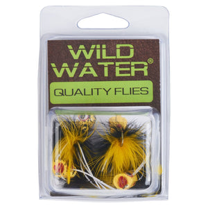 Wild Water Black and Yellow Little Fatty by Pultz Poppers, Size 6, Qty. 4
