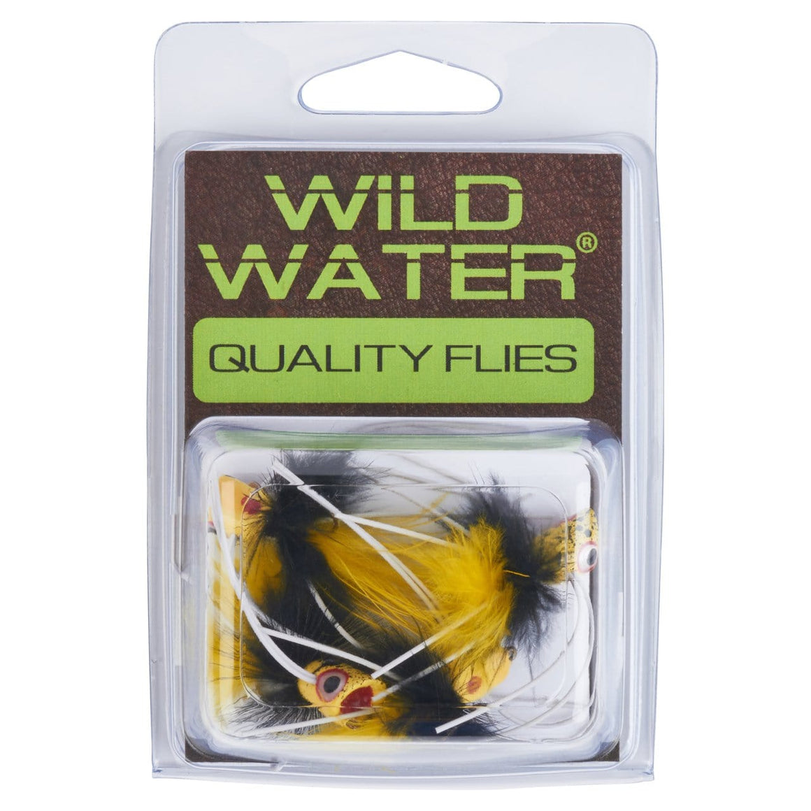 Wild Water Black and Yellow Little Fatty by Pultz Poppers, Size 8, Qty. 4 - Wild Water Fly Fishing