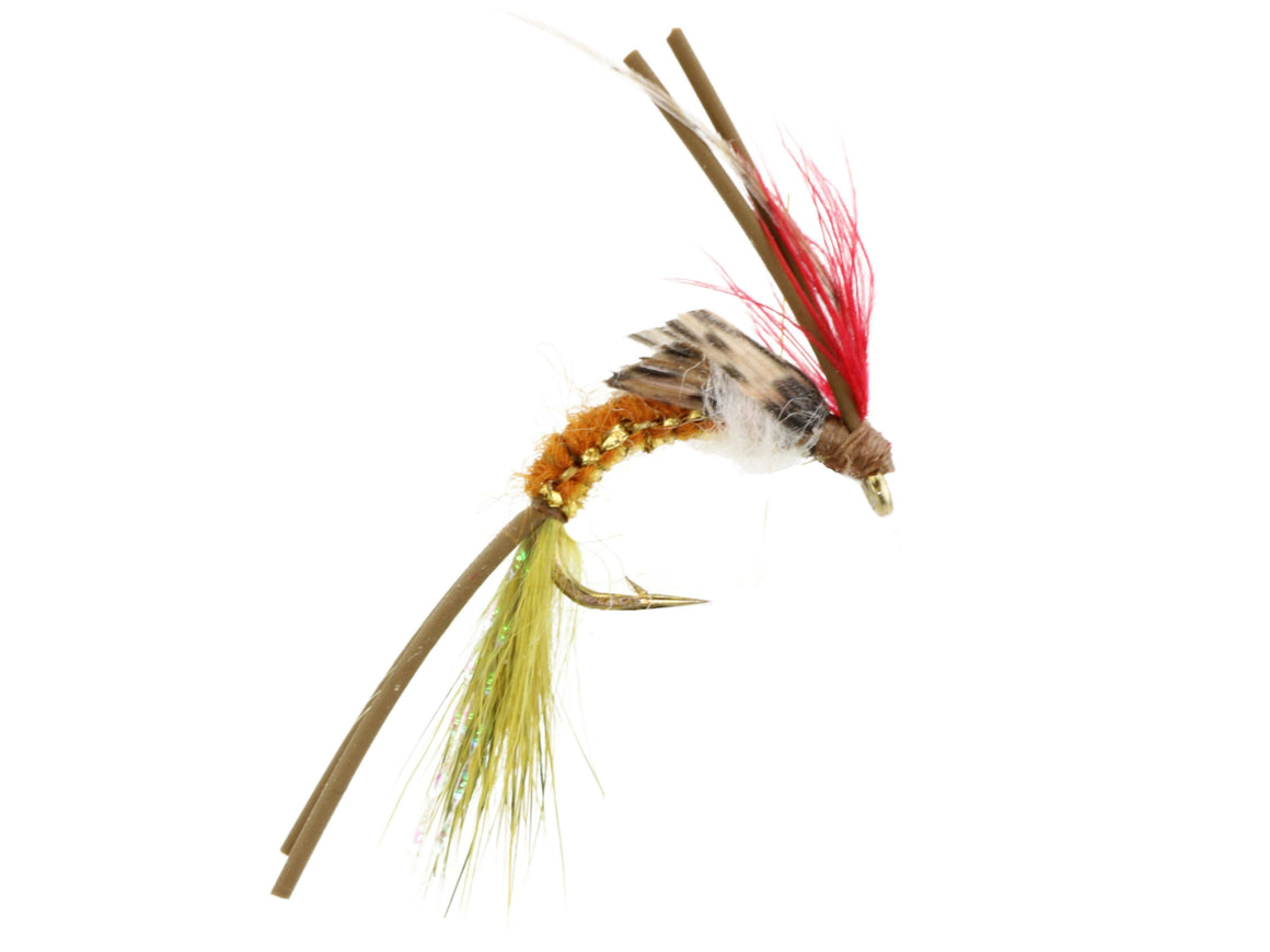 Brown and Green Woven Caddis Fly | Wild Water Fly Fishing