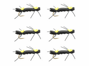 Black and Yellow Chernobyl Ant | Wild Water Fly Fishing