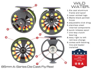 5-Weight Fly Reel | 6-Weight Fly Reel | Wild Water Fly Fishing