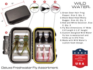 Wild Water Fly Fishing DELUXE  9/10 Fly Fishing Starter Package with Freshwater Flies