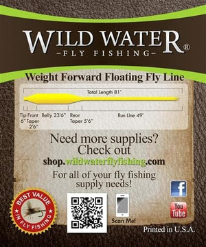 Weight Forward 12 Floating Fly Line - Wild Water Fly Fishing