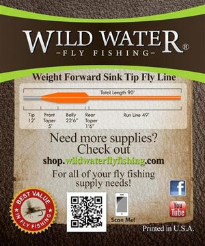 Weight Forward 7 Sinking Tip Fly Line - Wild Water Fly Fishing