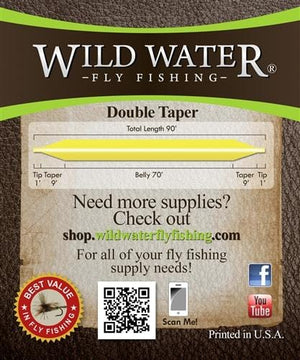 High Floating Double Taper 3 Fly Line - Wild Water Fly Fishing