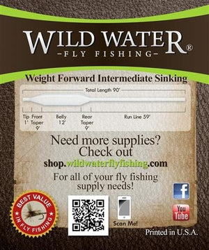 Weight Forward 6 Weight Clear Fly Line - Wild Water Fly Fishing