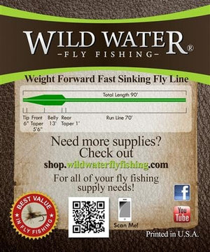 Weight Forward 6 Weight Fast Sinking Fly Line - Wild Water Fly Fishing