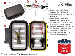 Wild Water Fly Fishing Complete 5 Weight Switch Rod Starter Package with Bass and Pike Flies