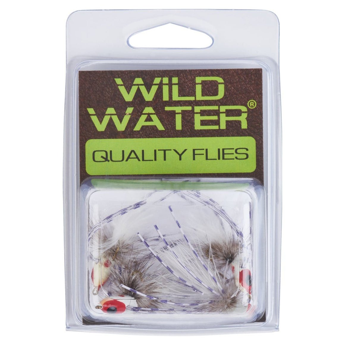 Wild Water White Glowing Spider Leg Slider Popper by Pultz Poppers, Size 8, Qty. 4 - Wild Water Fly Fishing