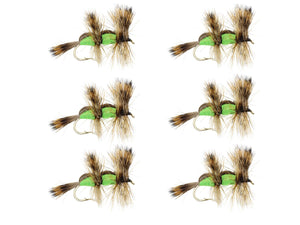 Green Double Humpy Dry Fly Pattern | Wild Water Fly Fishing