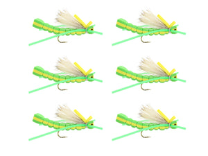 Green Foam Grasshopper Fly | Wild Water Fly Fishing