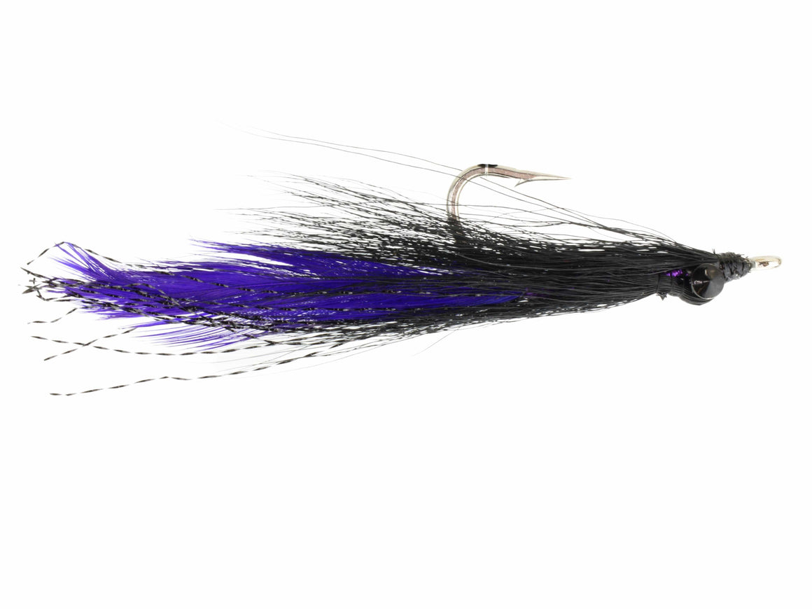 Purple and Black Deep Diving Clouser Minnow Fly | Wild Water Fly Fishing