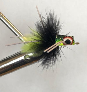 Wild Water Frog Snub Nose Slider Popper by Pultz Poppers, Size 8, Qty. 4 - Wild Water Fly Fishing