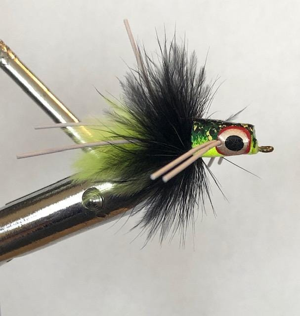 Wild Water Frog Snub Nose Slider Popper by Pultz Poppers, Size 6, Qty. 4