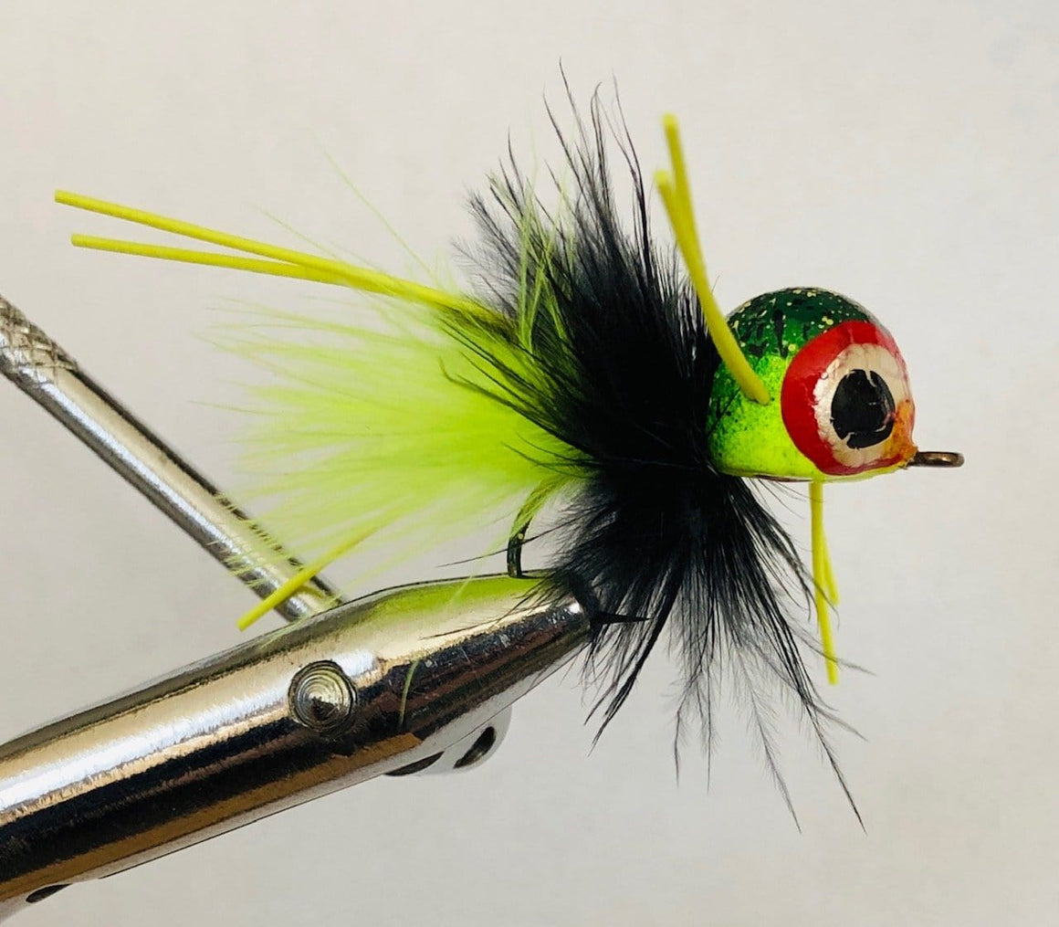 Wild Water Frog Rollie Pollie Popper, Size 4, Qty. 4, by Pultz Poppers - Wild Water Fly Fishing