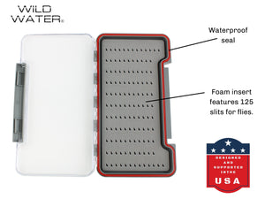 Wild Water Fly Fishing Large Thin Foam Insert Fly Box