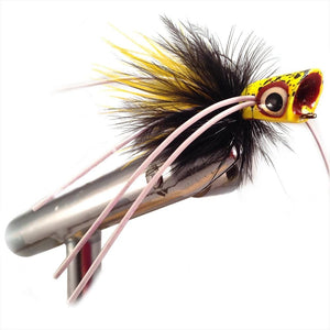 Black and Yellow Little Fatty by Pultz Poppers, size 8, qty 4
