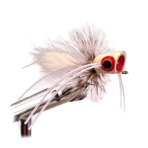 Wild Water White Glowing Little Fatty by Pultz Poppers, Size 8, Qty. 4 - Wild Water Fly Fishing