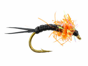 Wild Water Fly Fishing Estaz Stonefly, Metallic Orange, Size 6, Qty. 6