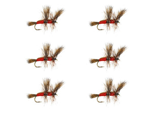 Red Double Humpy Dry Fly Pattern | Wild Water Fly Fishing