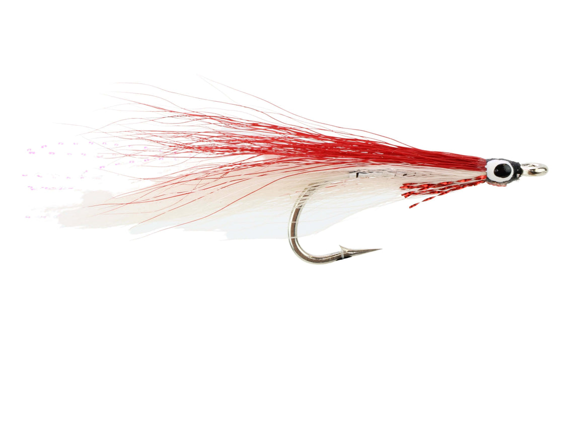 Red and White Deceiver Fly | Wild Water Fly Fishing