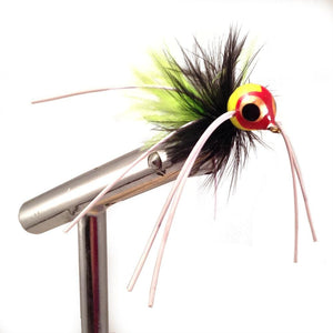 Chartreuse and Black Rollie Pollie Popper by Pultz Poppers, size 8, qty 1