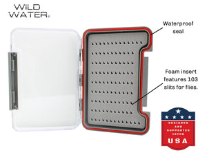 Wild Water Fly Fishing Small Thin Foam Insert Fly Box
