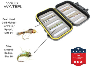 Nymph Fly Assortment with Small Fly Box | Wild Water Fly Fishing