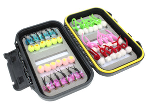 Wild Water Fly Fishing Steelhead/Egg Fly Assortment, 42 Flies with Small Fly Box