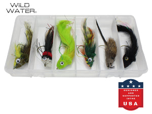 Bass and Pike Deer Hair Flies Pack | Wild Water Fly Fishing