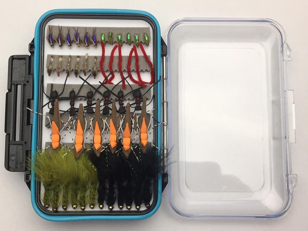 Wild Water Most Popular Flies Mega Assortment, 120 Flies with Large Fly Box